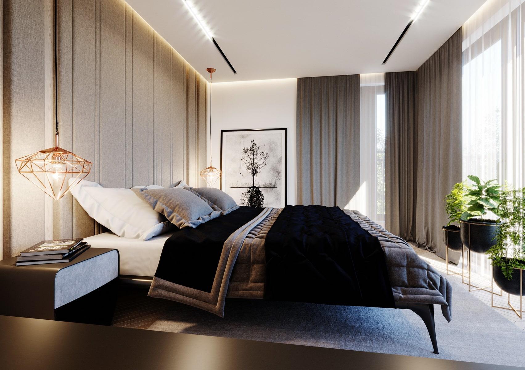 Sypialnia - apartament przy ul. Zbożowej